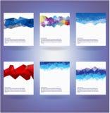 Sammlung von sechs abstrakten Dreieckhintergründen stock abbildung