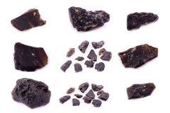 Sammlung von Stein- Mineral-Textit Lizenzfreies Stockfoto