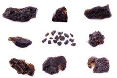 Sammlung von Stein- Mineral-Textit Stockbilder