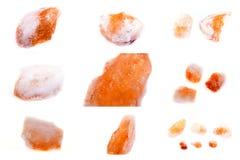 Sammlung von Steinmineralcitrine stockbilder