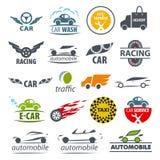 Sammlung von Vektorlogos Auto Lizenzfreies Stockbild