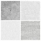 Sammlung von vier Hand gezeichneten Vektorhintergründen lizenzfreie stockbilder
