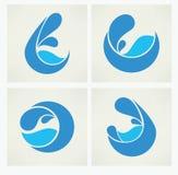 Sammlung Wasseraufkleber Stockbild