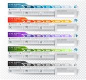Sammlung Web-Elemente lizenzfreie abbildung