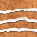 Sammlung Weiß heftiges zerfallenes strukturiertes Papier Vektor illustr Lizenzfreies Stockbild