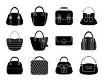 Sammlung weibliche Taschen vektor abbildung
