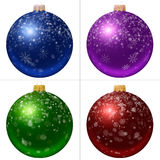 Sammlung Weihnachtsbälle Stockfotos