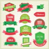 Sammlung Weihnachtsverzierungen und dekoratives Stockfoto