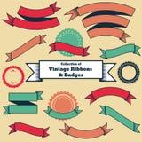 Sammlung Weinleseartbänder und -ausweise lizenzfreie abbildung