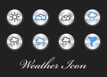 Sammlung Wetter-Ikonen, Benutzerschnittstelle und Multimedia-Ikonen stock abbildung