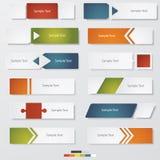 Sammlung Zahl-Fahnenschablone des Designs der sauberen Stockfotos