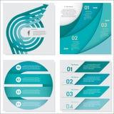 Sammlung Zahl-Fahnenschablone des Designs der sauberen Vektor Stockfoto