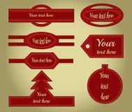 Sammlung Zierleisten mit Bewegung von Weihnachten Lizenzfreie Stockfotos
