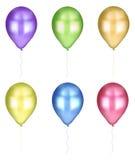 Sammlungen der farbigen Ballone Stockbild