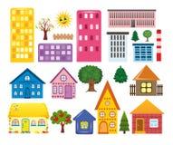 Sammlungen der verschiedenen Häuser Stockbild