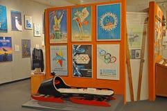 Sammlungen im Lake Placid-olympischen Museum, USA Lizenzfreies Stockfoto