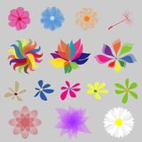 Sammlungs-MOD-Art-Blumen Lizenzfreie Stockfotos