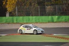 Sammlungsauto Peugeots 207 in Monza Stockbild
