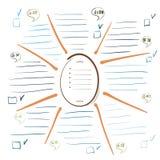 Sammlungsdiagramm kann von den Designern benutzt werden Stockfoto