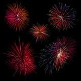 Sammlungshintergrund des Feuerwerkshintergrundes fünf lizenzfreies stockbild