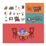 Sammlungsmöbel für das Haus Lizenzfreie Stockbilder