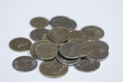 Sammlungsmünzen Stockfoto