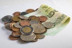 Sammlungsmünzen und -banknoten Lizenzfreies Stockbild
