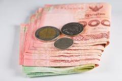 Sammlungsmünzen und -banknoten Stockfoto