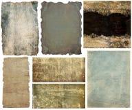 Sammlungspapierfahnen und -hintergründe Stockbilder