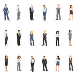 Sammlungsvektorillustrationen von Geschäftsleuten Stockbilder