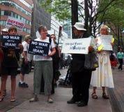 Sammlungsziele Chuck Schumer für das Entgegensetzen Obamas von der Iran-Abkommen Lizenzfreies Stockbild