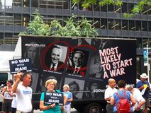 Sammlungsziele Chuck Schumer für das Entgegensetzen Obamas von der Iran-Abkommen Stockfoto