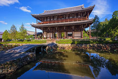 Sammon Gate at Tofukuji Temple, Kyoto Stock Photography