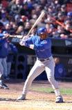 SAMMY SOSA. Chicago Cubs superstar Sammy Sosa batting against the New York Mets. (Image taken from color slide Stock Image