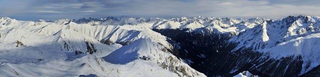 Samnaun Ski Resort Stock Image