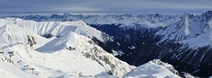 Samnaun Ski Resort Stock Images