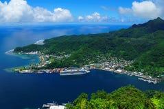 Samoa American. Viewpoint of Pago Pago Samoa American Royalty Free Stock Image