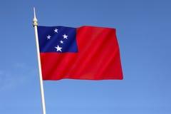 Samoa bandery Fotografia Royalty Free