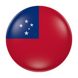 Samoa button on white background. 3d rendering of a Samoa  flag on a button Stock Photos