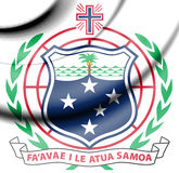 Samoa Coat of Arms. 3d Rendered Samoa Coat of Arms Royalty Free Stock Images