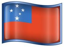 Samoa Flag icon Royalty Free Stock Image