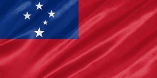 Samoa-Flagge stock abbildung