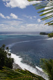 Samoa landscape. Panorama view from the top of a tropical island in samoa Stock Image