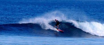 Samoa que practica surf Imagen de archivo