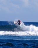 Samoa surfando foto de stock