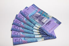 Samoa Tala bank notes isolated Stock Photography