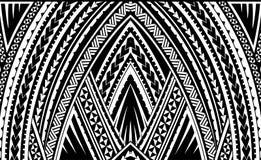 Samoa tribal ornament. Samoa style ornament. Good for sleeve tattoo Stock Image