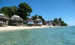 Samoaische Hütten Lizenzfreies Stockfoto