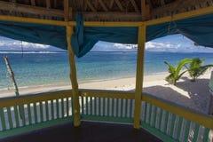 Samoan beach fales Stock Image