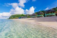 Samoan beach fales Royalty Free Stock Photos
